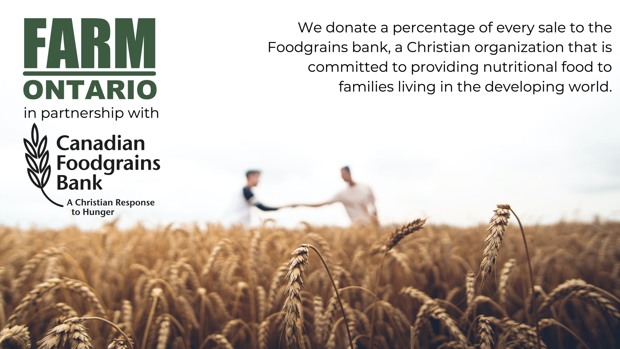 FarmOntario in Partnership with Canadian Foodgrains Bank